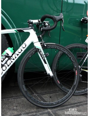 Relatively shallow carbon tubular wheels were more or less standard issue at this year's Ronde van Vlaanderen