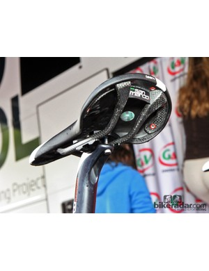 A carbon-railed Selle San Marco saddle for Jurgen Roelandts (Lotto-Belisol)