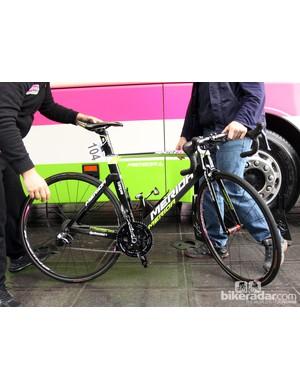 Sacha Modolo's (Lampre-Merida) Merida Reacto Evo for Ronde van Vlaanderen
