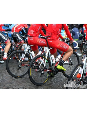 Cofidis riders were on Look 675 bikes for this year's Ronde van Vlaanderen