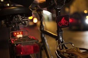 The rear Brainy Bike Light is designed to tap into a viewer's rapid reaction thought processes and enable them to take evasive action