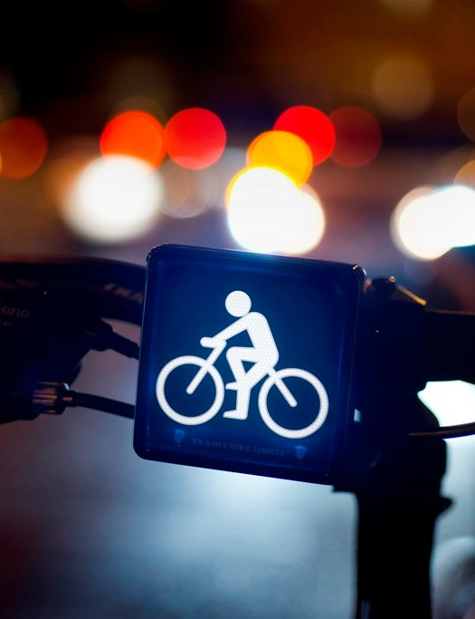 The front Brainy Bike Light