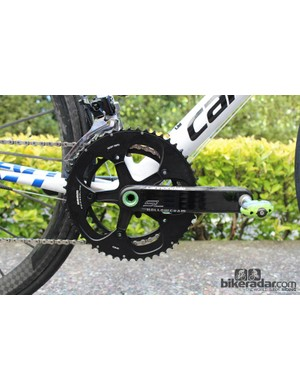 Peter Sagan's Cannondale Super-Six Evo in 2012 had a 400g steel spindle in the crank to meet the 6.8kg requirement