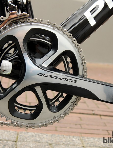 Shimano Dura-Ace 9000 cranks with 53/39T chainrings for Geraint Thomas (Sky)