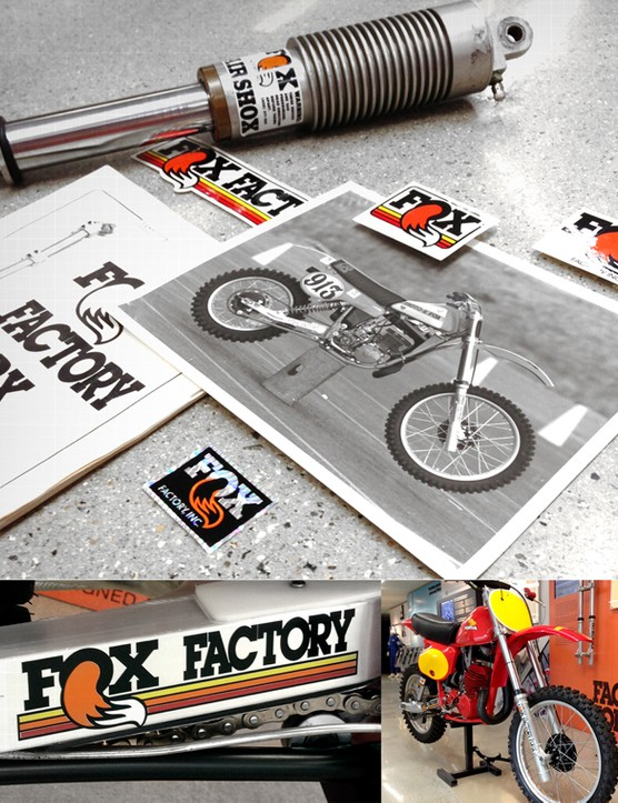 Fox has created throwback decal kits for its forks and shocks to commemorate 40 years of making high-performance suspension products