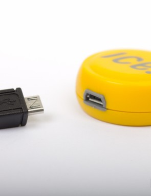 The ICEdot uses a micro-USB cable for charging