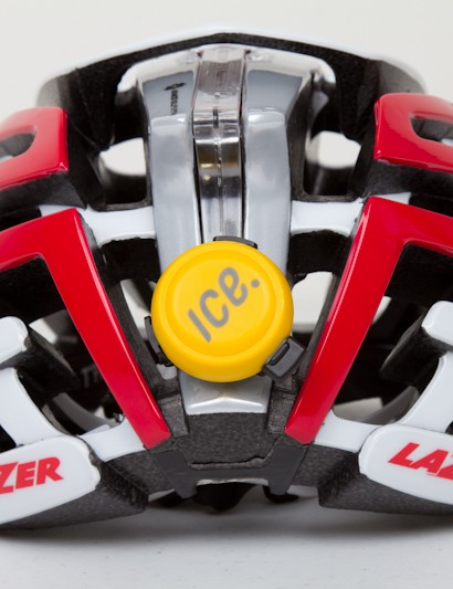 On the back of a Lazer Z1, the ICEdot sensor sits nicely