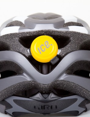 The large exhaust vents on the Giro Revel made attaching the sensor simple