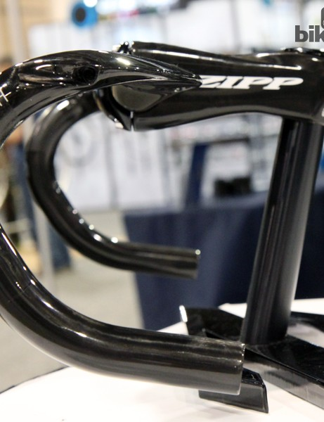 Zipp says the SL-70 Aero's revised upper bend should eliminate the need to tilt bars upwards to get an angled position