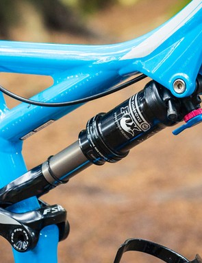 The Fox Float CTD Evolution shock offers 150mm travel