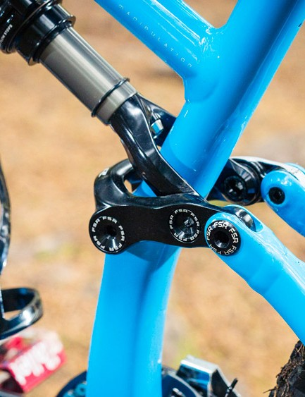 The FSR layout is the same as on the 26in wheeled bike