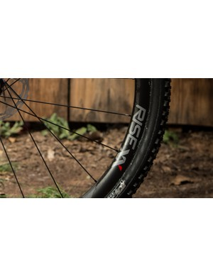 In addition to being light, the Rise XX tubular carbon rims were designed with an eye toward impact resistance