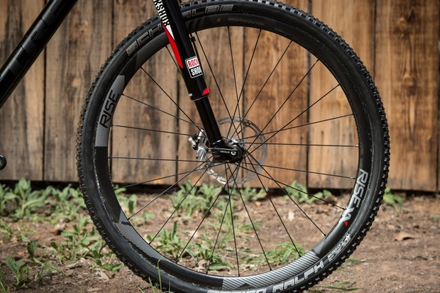 The Rise XX wheelset is a tubular carbon wheelset