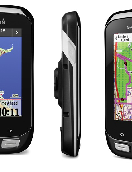 The Garmin Edge 100 blend features of the touring and training Garmin computers