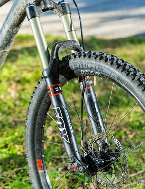 The Fox 34 Evolution fork needs a retune to stop it choking mid-stroke
