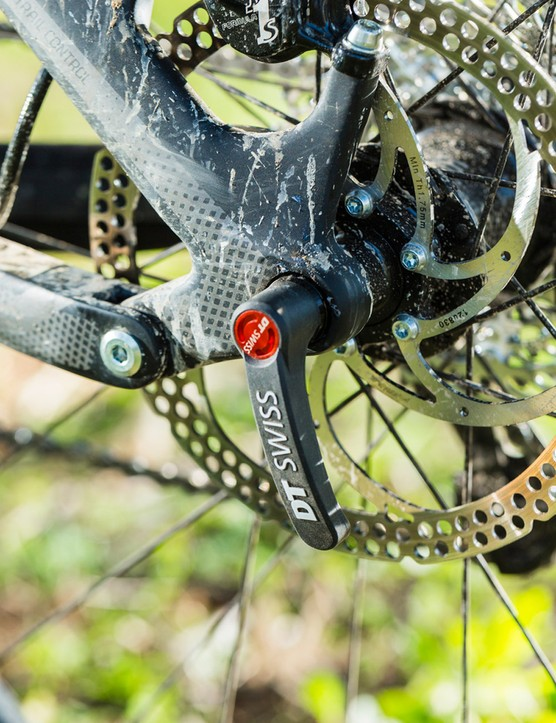 Big-rotored Formula brakes anchor the excellent kit