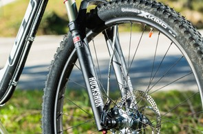 Fashionistas may gasp, but RockShox' Sektor easily beats budget Fox forks for consistent control