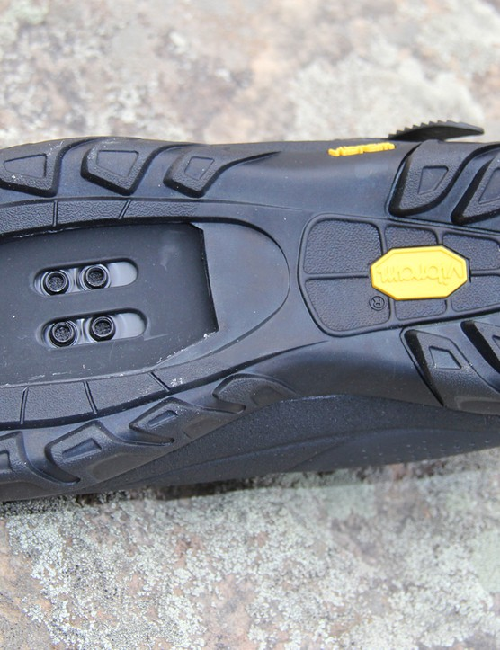 The Terraduro has a sticky Vibram sole for great traction for hike-a-bike sections of trail