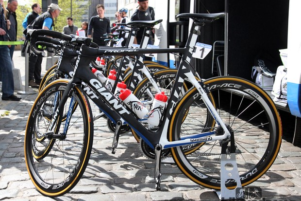 Marcel Kittel's (Giant-Shimano) Giant Propel Advanced - about five hours before winning Scheldeprijs in a sprint finish