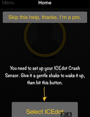 If the ICEdot app is unable to connect to the sensor, it may need a shake to wake it