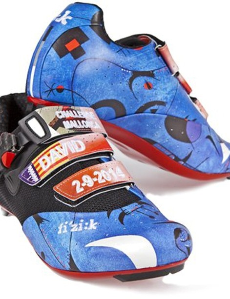 Millar's shoes for the Challenge Mallorca were inspired by the artwork of Mirò
