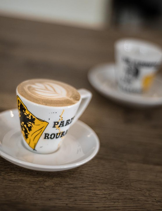 These 290ml cups comes as a set, with Tour of Flanders and Paris-Roubaix artwork
