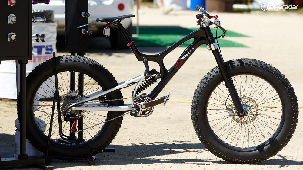 Santa Cruz V10 fat bike, converted by Phil Wood & Co and probably not ridden by Greg Minnaar…