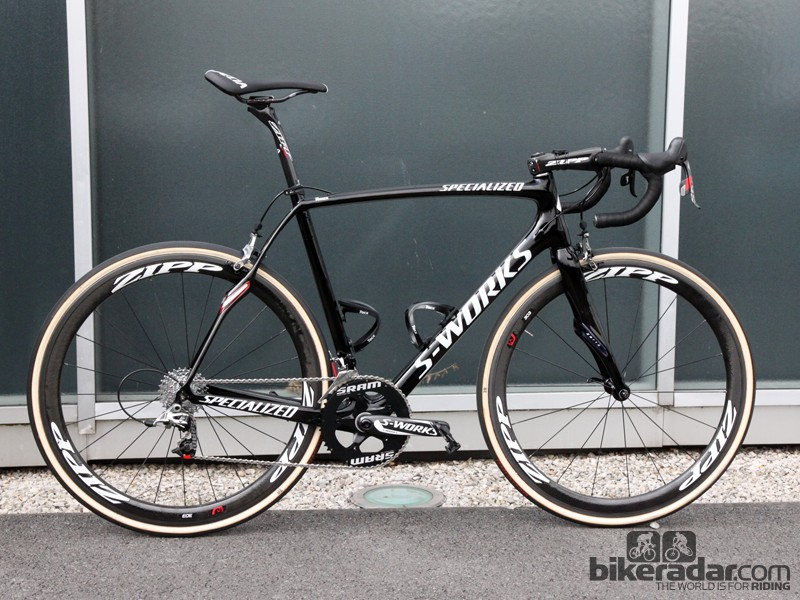 Tom Boonen (Omega Pharma-QuickStep) will once again ride his tried-and-true Specialized S-Works Roubaix SL4 at Paris-Roubaix. Save for a few very minor changes, it's an identical setup to what he used last year