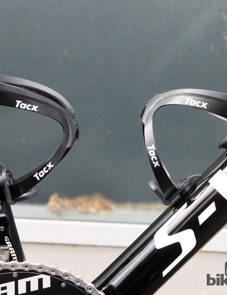 Tacx Tao aluminum cages will handle the bottles on Sunday