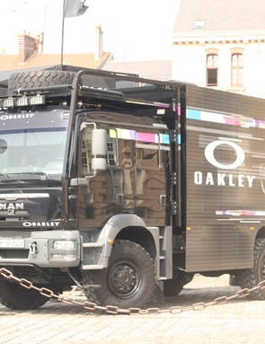 The Oakley truck that's pulling around the 30 year lens exhibition