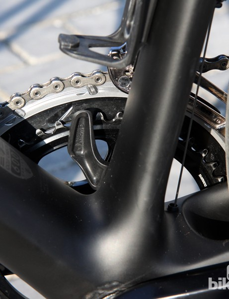 The integrated chain catcher on Trek's Domane Classics