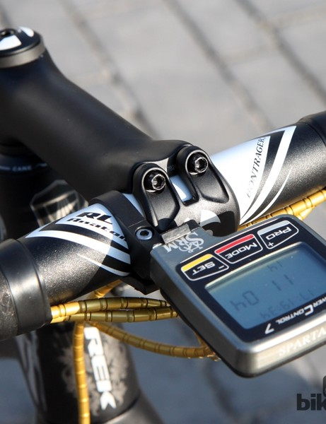 Aluminum handlebars for Fabian Cancellara (Trek Factory Racing)