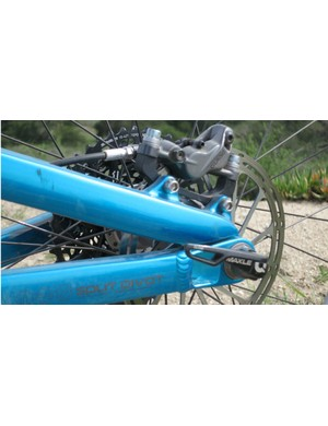 Like Salsa's Horsethief and Spearfish, the Bucksaw uses Dave Weagle's Split Pivot rear suspension design