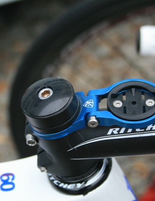Frattini's K-Edge stem mount replaces a spacer on the steerer