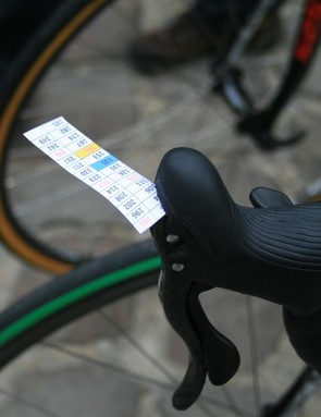 Topsport-Vlaanderen bikes were to have the cobbled sector notes mounted on the stems