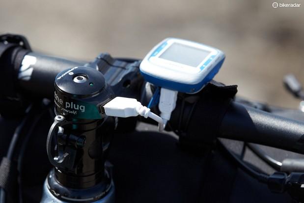 'The Plug' stem provides USB charging via a dynamo front hub