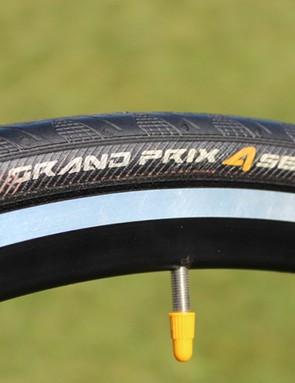 The Grand Prix 4 Season is not new by any means; Continental has offered this model in a beefy 28mm tyre for near a decade. Just something to keep in mind for your friends who tell you wide road tyres are new
