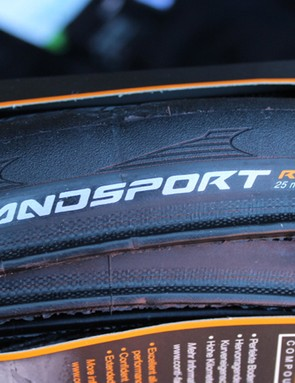 The Grand Sport Race is a US$40 folding clincher, one of Conti's first Asian-made tyres