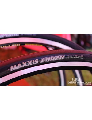 The Maxxis Forza is one of two road tubulars — a brand new category for Maxxis