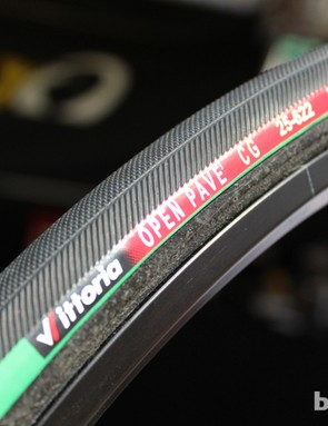 Vittoria's Open Pave tubular has long found favor in the pro ranks for rough-road days. Now it comes in a 25mm instead of a 24mm as well as the 27mm
