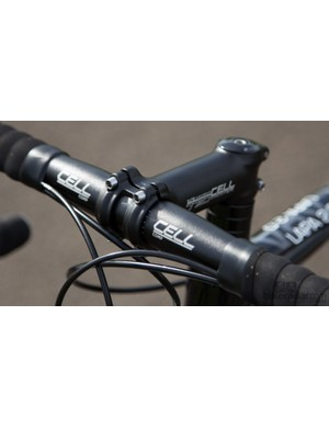 The handlebar, stem, seatpost and saddle are all 'white-label', but are quality items that complement the ride well
