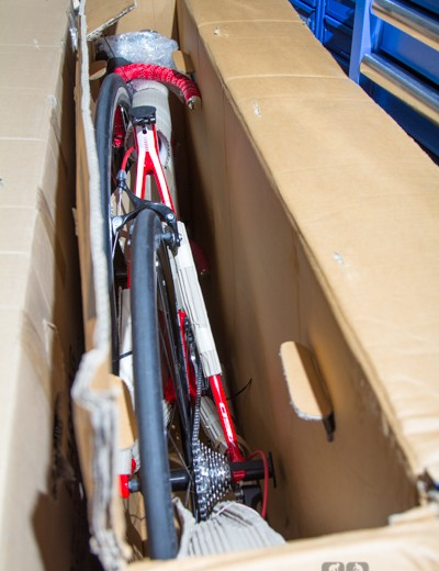 Bicyclesonline.com.au checks every bike before shipping it out: ours arrived adequately packaged, but perfectly adjusted