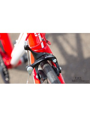 A Shimano non-series brake saves some coin without sacrificing performance