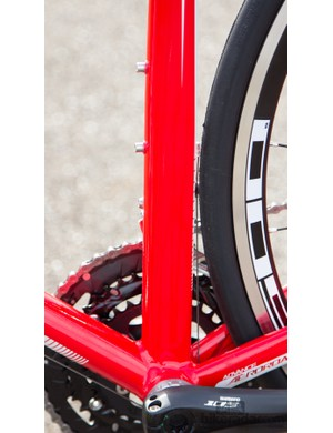 Plenty of shaping to the frame's tubing keeps the weight low and the stiffness high