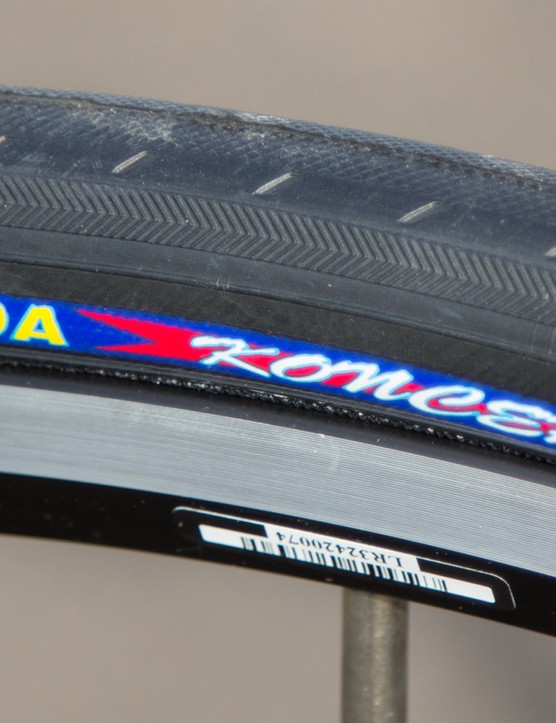 These Kenda tyres scared us: a plastic feel didn't help the ride quality or our cornering confidence