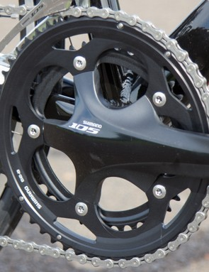 The Shimano 105 used throughout the bike cannot be faulted - it's rare to see an entire groupset without some parts changed for cheaper options