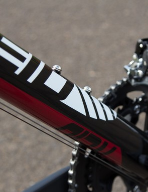 Sharp, aero lines on the Reid frame may look stylish, but they certainly didn't help the ride quality