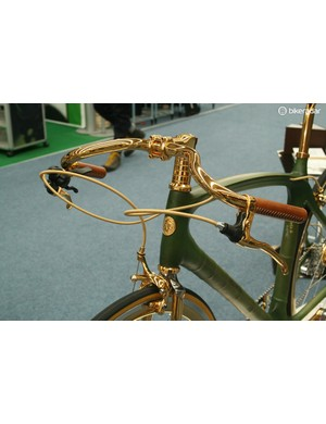 Hungarian company Veloboo tried to steal the show with this 24 carat gold plated bamboo bike… and everybody else thought about stealing it