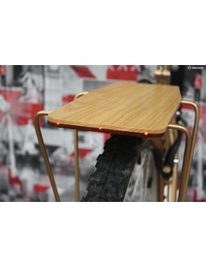 Made to order, these wonderful timber racks from Moose Mudguards can even be sold with built in LED's, as shown here