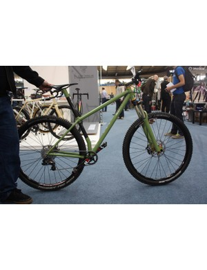 The Limit August Wheelworks 29er uses a kinked seat tube to allow for a compact rear end despite big wheels